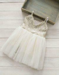 שמלת פייטים - שמנת זהב