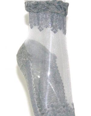גרביים עיטור אפור