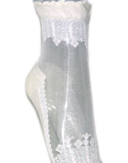 גרביים עיטור לבן
