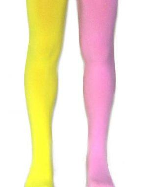 גרביונים חצי ורוד חצי צהוב