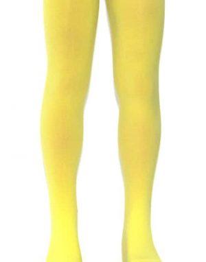 """גרביונים צהובים איכותיים לילדות, מתאים לגילאי 2-7, גובה 100-130 ס""""מ, אורך גרביון 60 ס""""מ מגוון צבעים"""