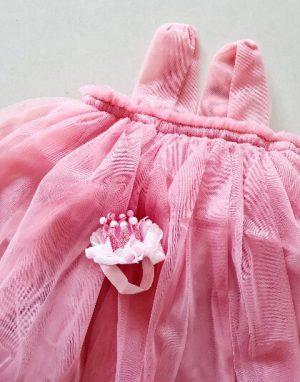 שמלת טול ורודה