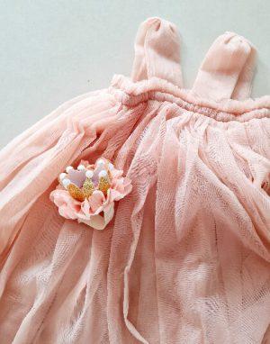 שמלת טול אפרסק